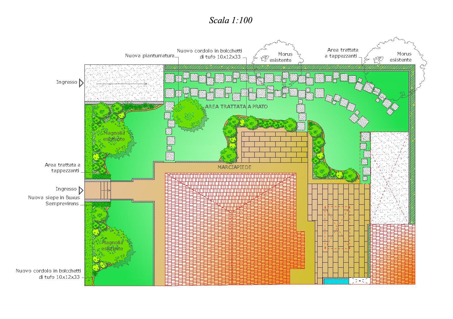 Ripristino giardino storico progettazione giardini for Progettazione del layout del garage