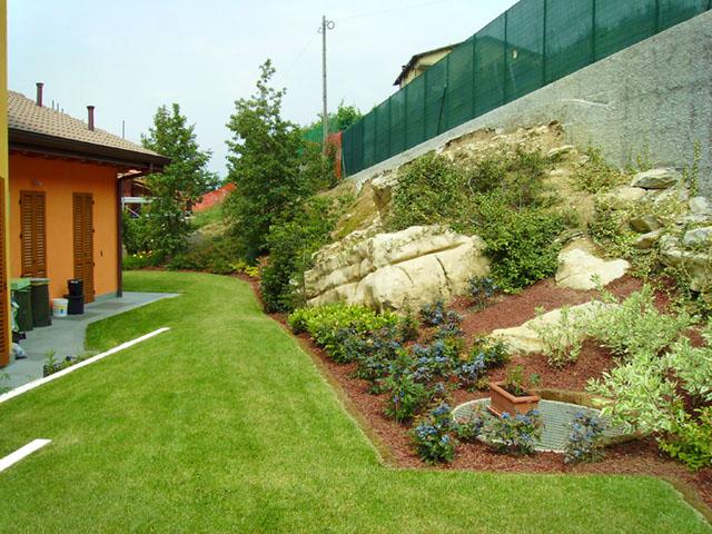 Giardino con olivo secolare progettazione giardini for Giardini per ville moderne