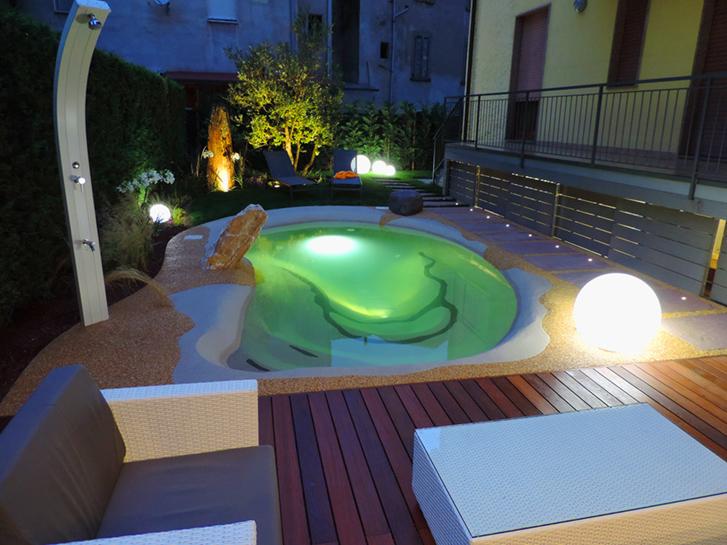 Biodesign illuminazione piscina progettazione giardini - Illuminazione piscina ...