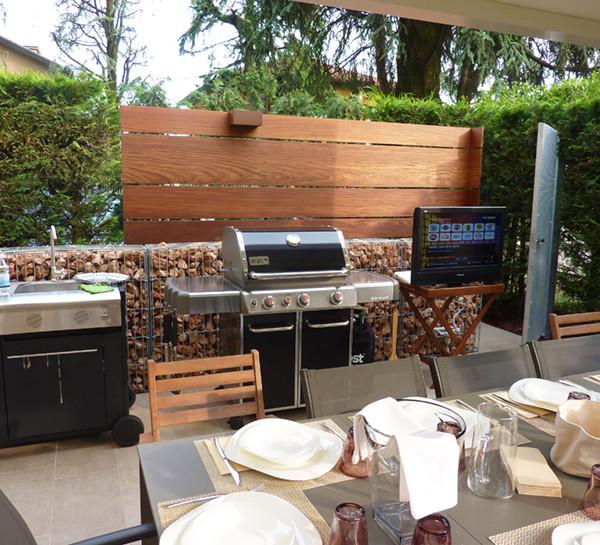 progettazione cucina esterna