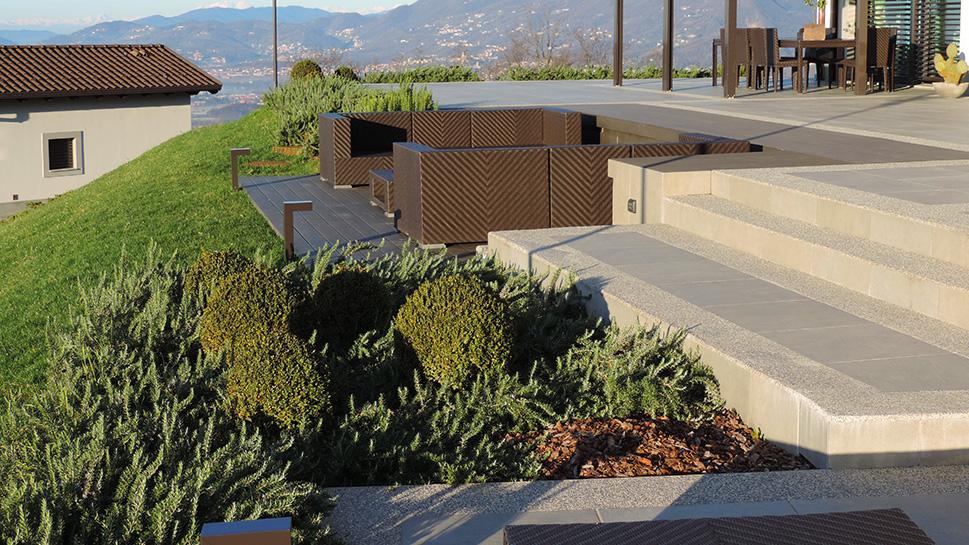 Progettazione giardino e spazi esterni agriturismo for Progettazione esterni