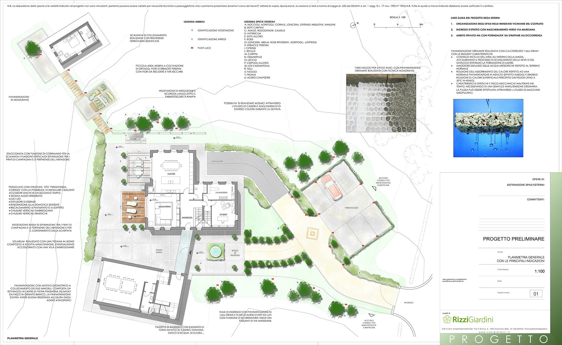 Planimetria generale progettazione giardino for Progettazione esterni
