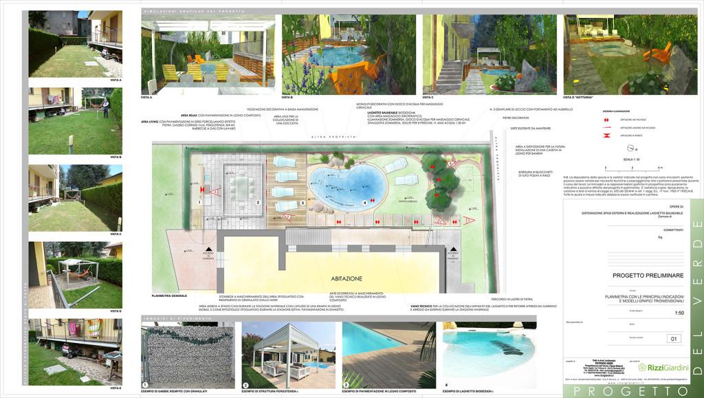 Progetto di un giardino con laghetto
