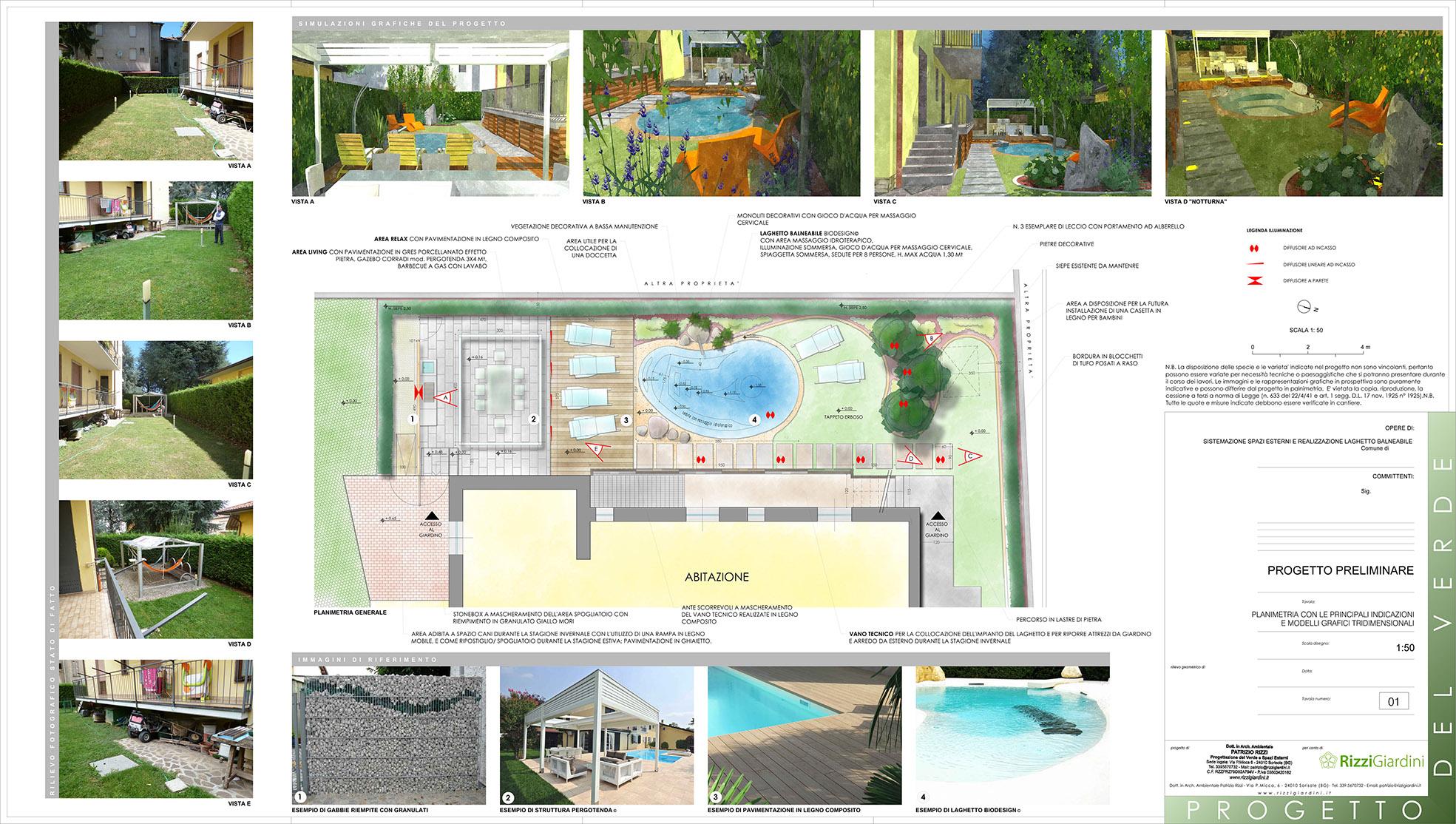 Laghetto balneabile progetto giardino privato - Progetto per giardino ...