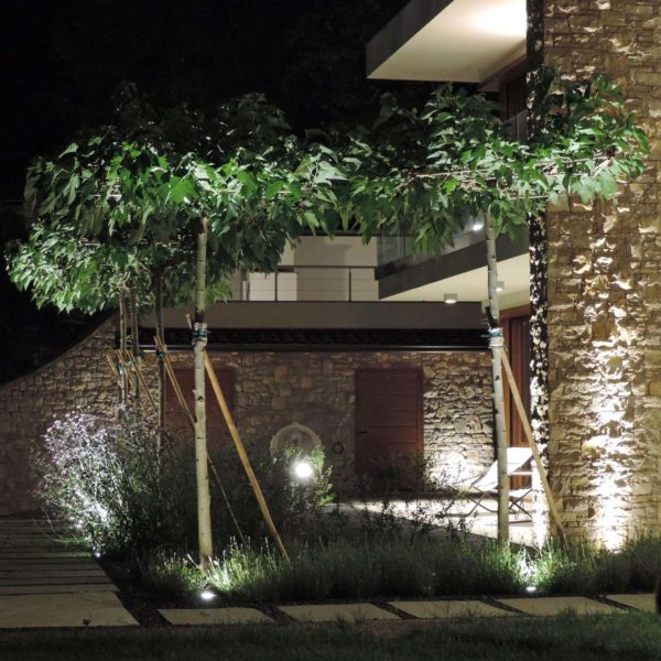 progetto giardino villa bosco
