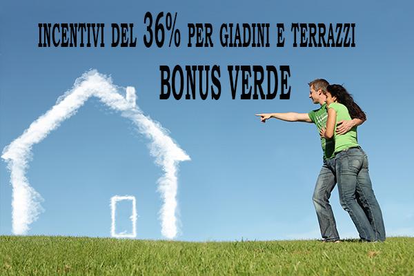 Bonus Verde Incentivi Giardini e Terrazzi